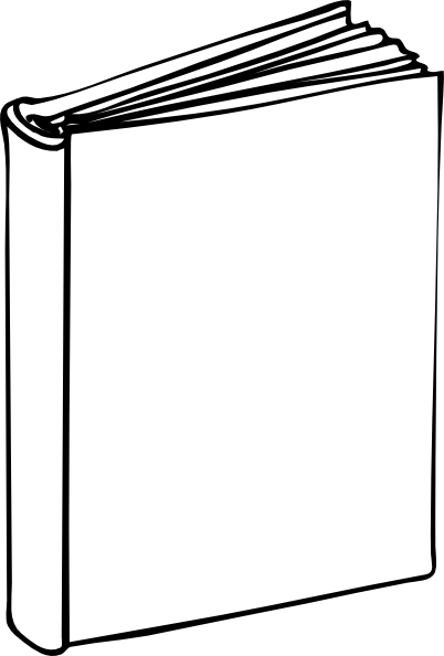 Blank book cover png. Clip art at clker