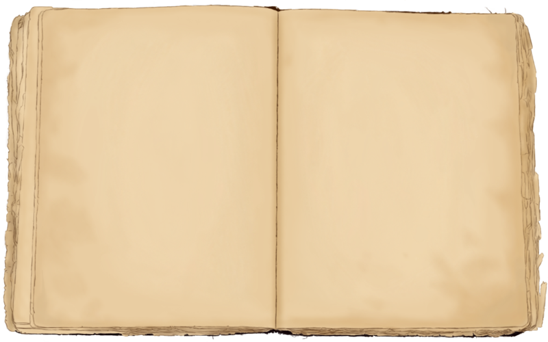 Old journal png. Blank vintage book by