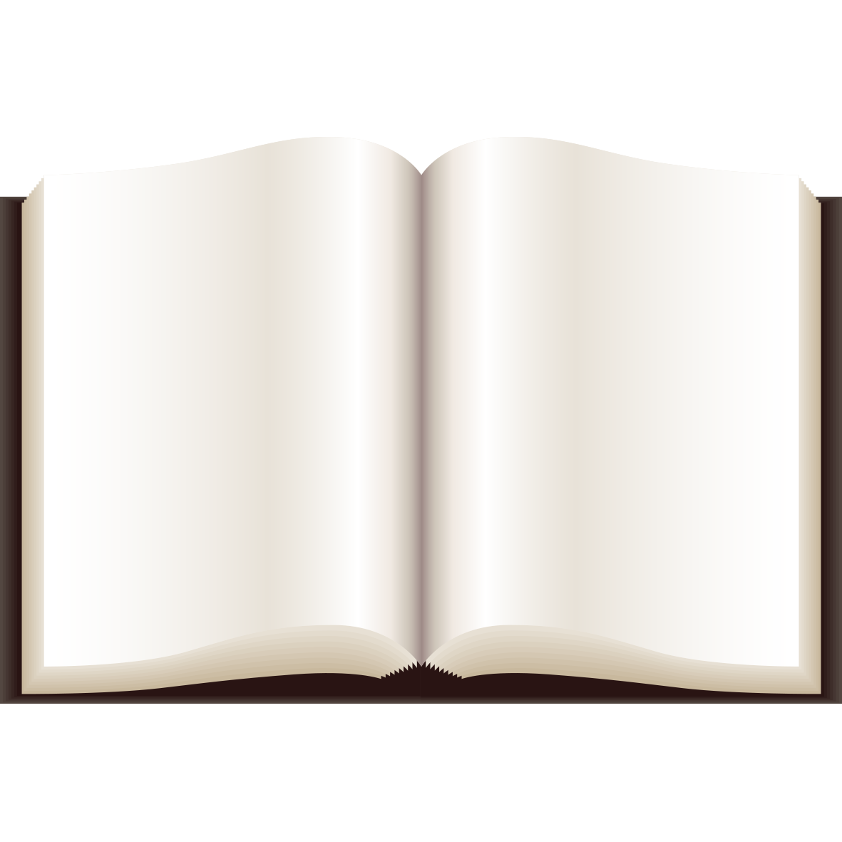 Blank book png. Paper angle pattern open