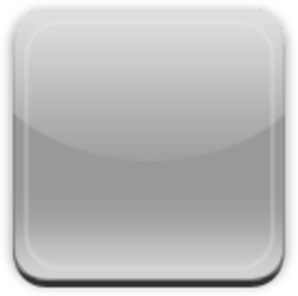 Blank buttons png. Glass app button gray