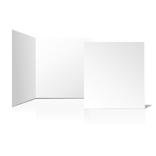 Blank card png. Folded plain transparent svg
