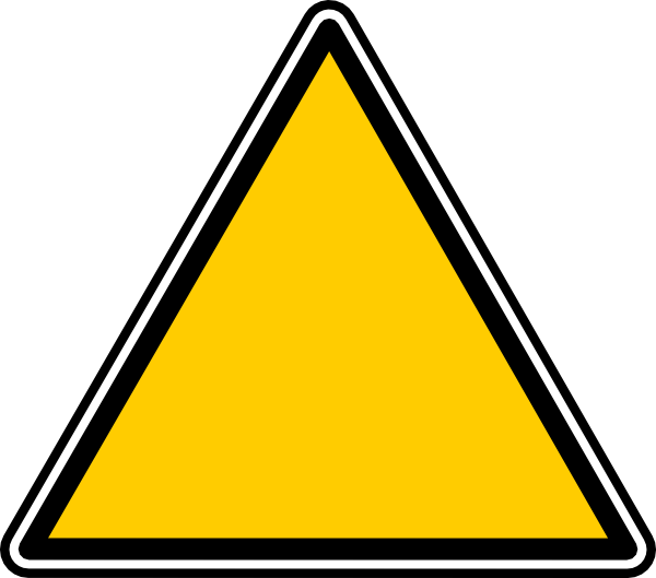 blank caution sign png