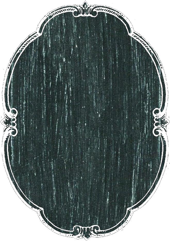 Blank chalkboard png. Vertical oval tag or