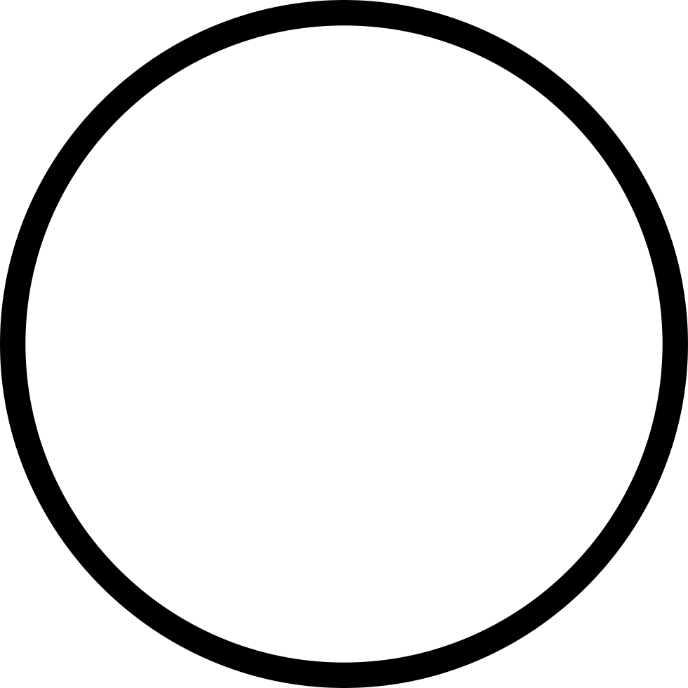 Blank circle png. Essential light svg icon