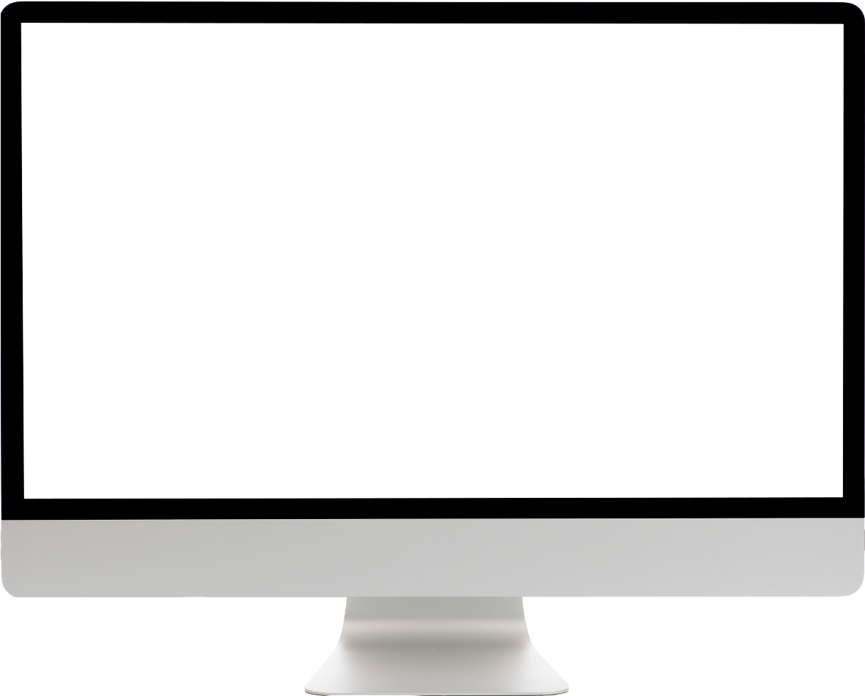 Mac transparent blank screen. Download image computer png