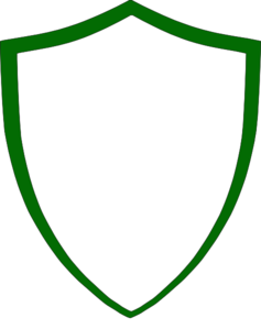 Green clip art at. Blank crest png picture royalty free download