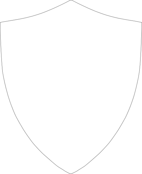 Shield outline large hi. Blank crest png graphic free stock