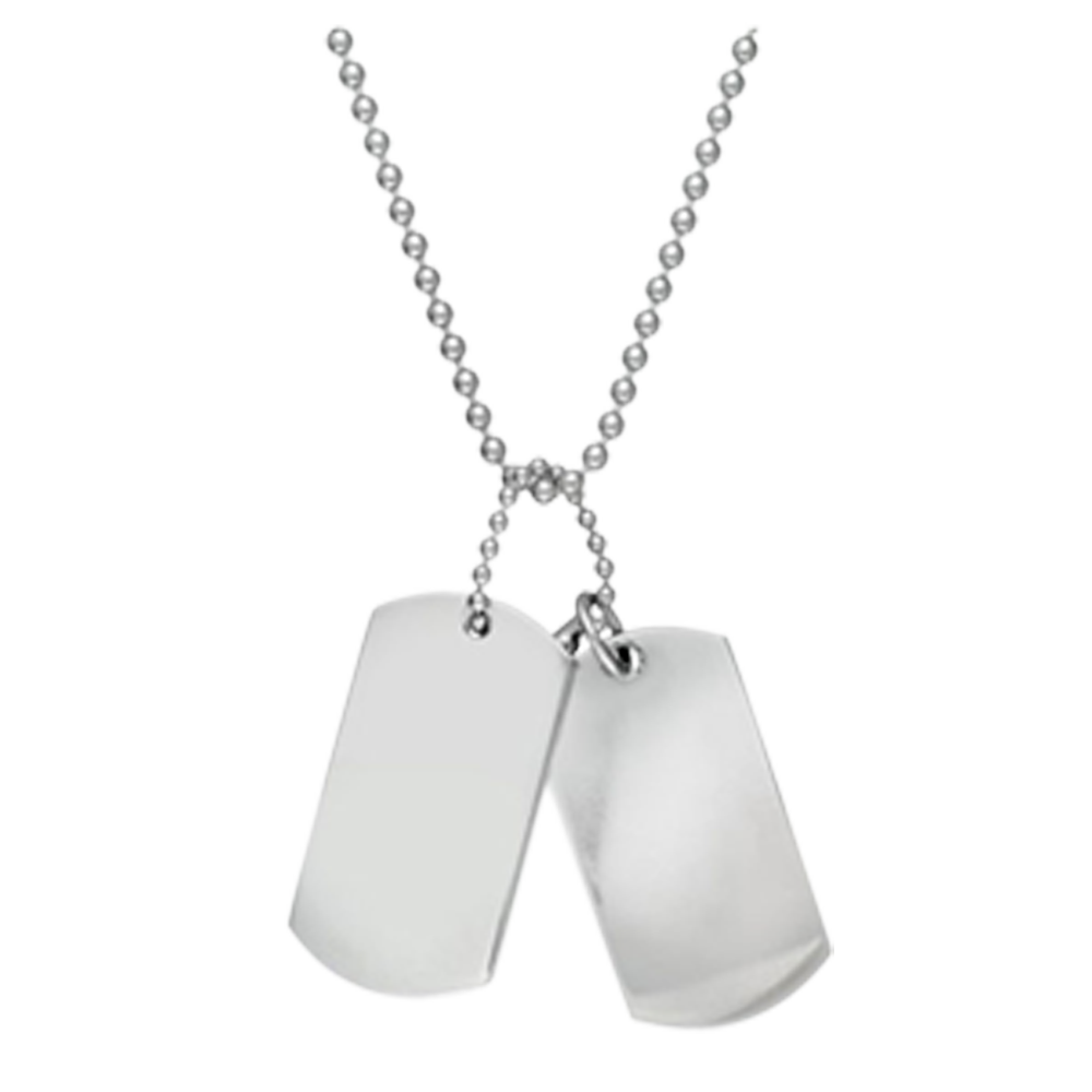 Dog tags png. Stainless steel dad plaque