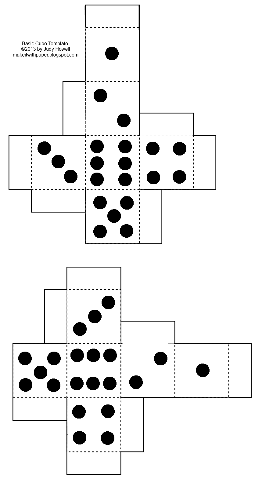 Blank drawing dice. Game resources sideddie with