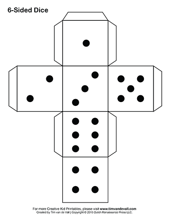 Blank drawing dice. Printable paper games pinterest