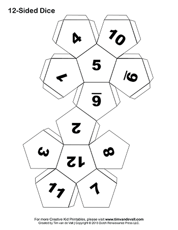 Blank drawing dice. Make your own in