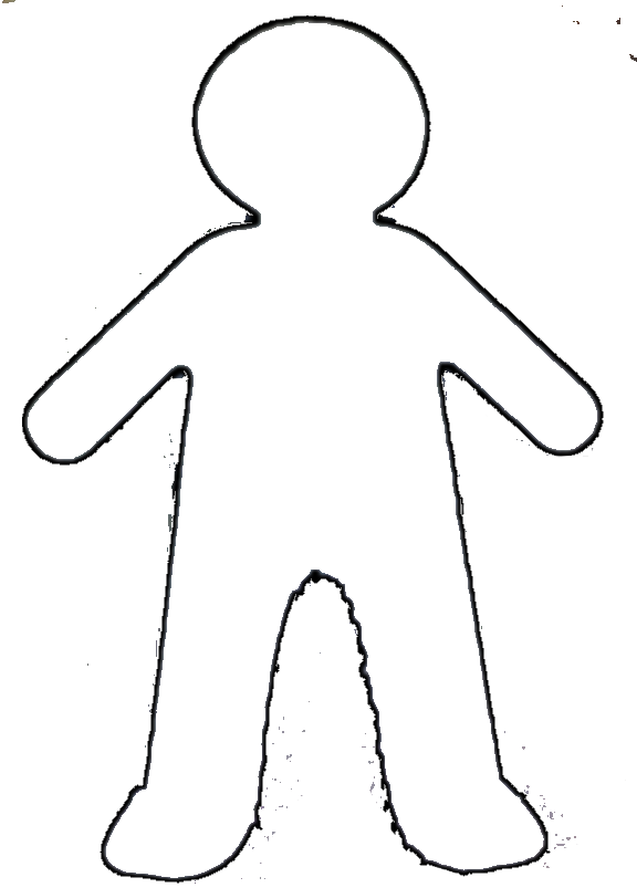 Blank drawing faceless. Girl template funf pandroid