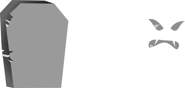 Blank drawing gravestone. Collection of high