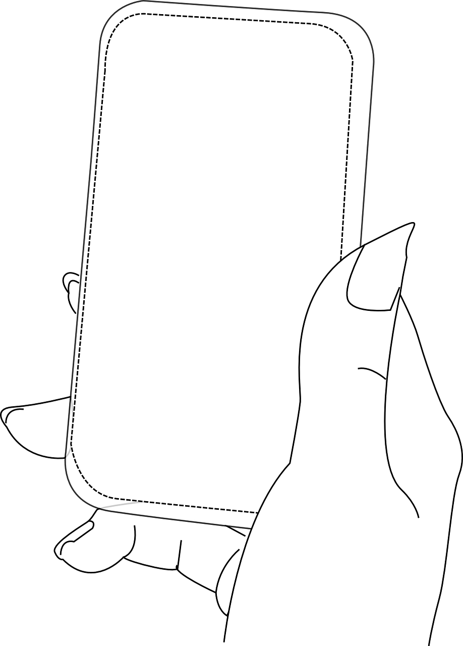 Smart drawing pinterest. Phone hand female blank