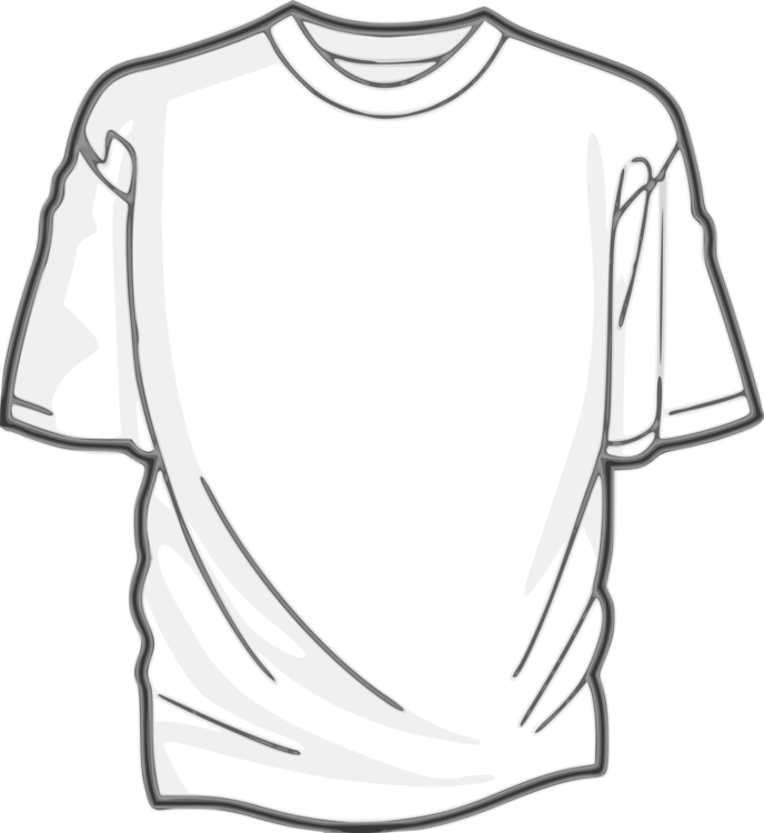 Shirt clothing silhouette free. T drawing image library download
