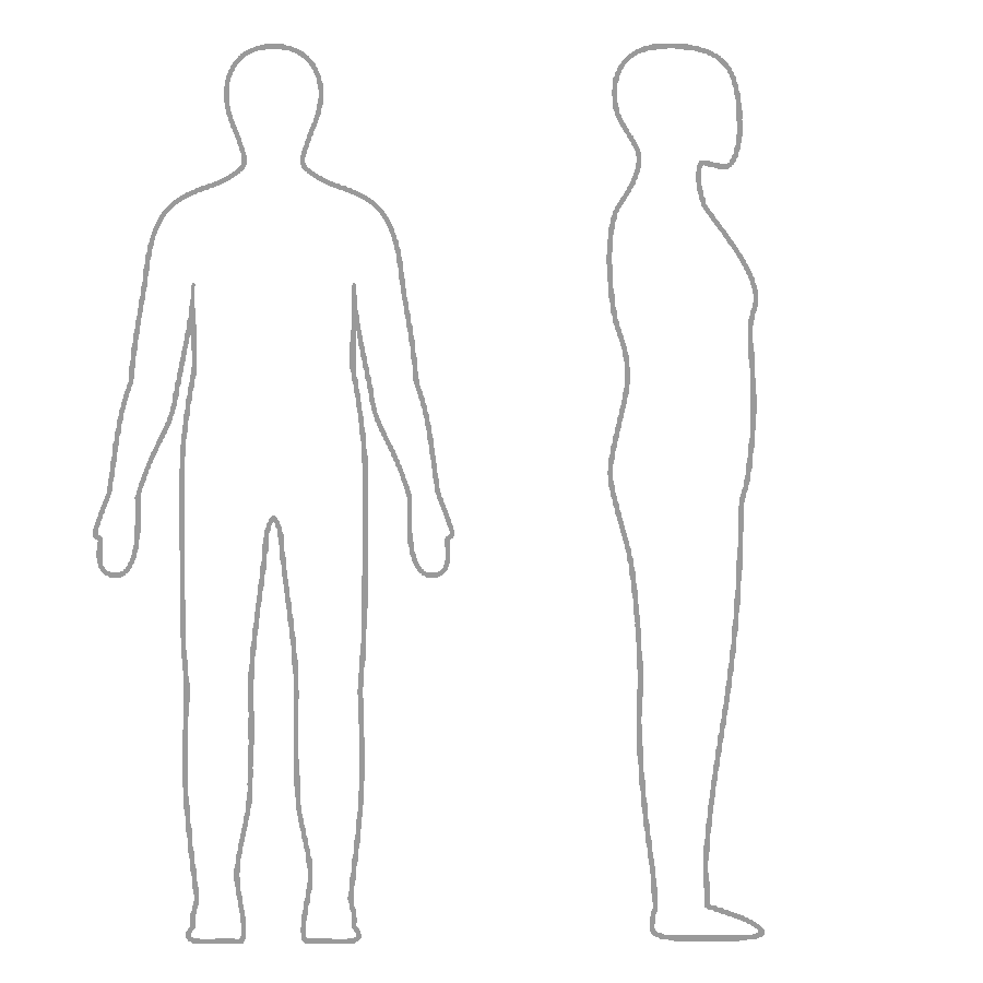 Blank drawing human figure. Outline of a body