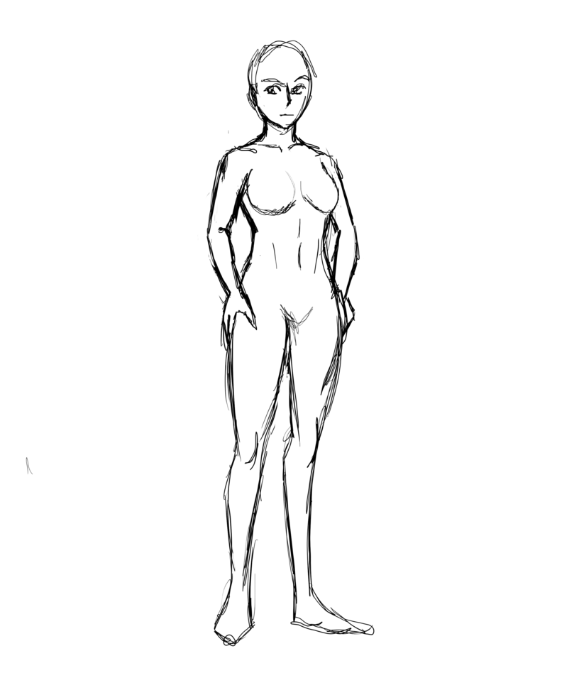 Drawing mannequins outline. Human body templates at