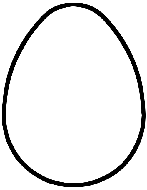 Oval drawing egg. Line at getdrawings com