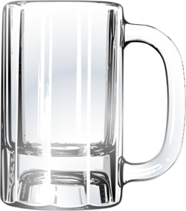 Blank drawing mug. Empty beer clip art