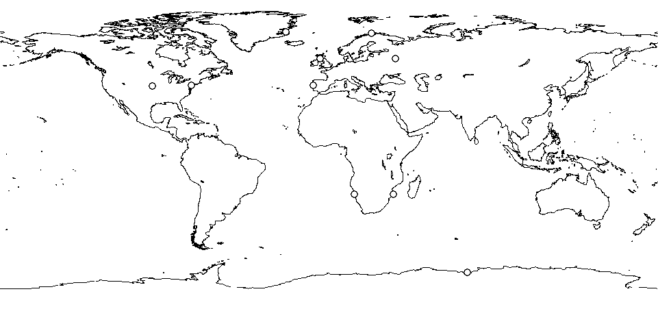 Blank drawing ocean. Currents global coastlines overlay