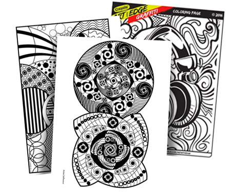Crayons transparent colouring page. Free coloring pages crayola