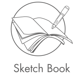 Blank drawing sketch. Book sketchbookvpng