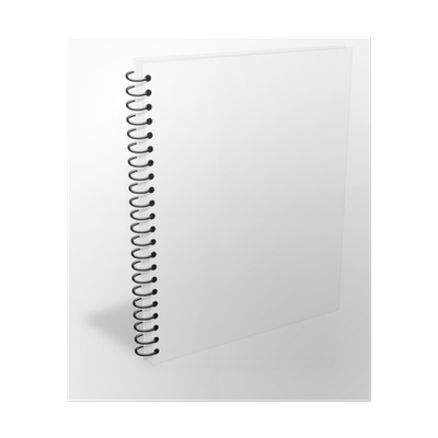 Blank ebook cover png. Gray spiral notebook closed