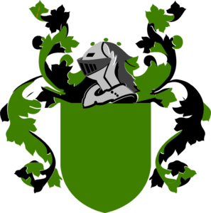 Burley clip art at. Blank family crest png banner free