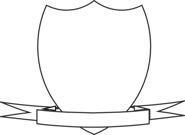 Blank family crest png. Shield template