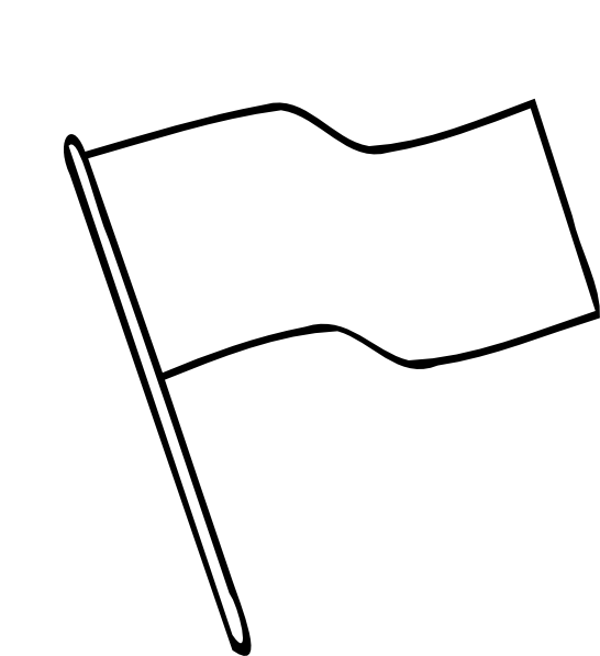 Blank flag png. Outline clip art at