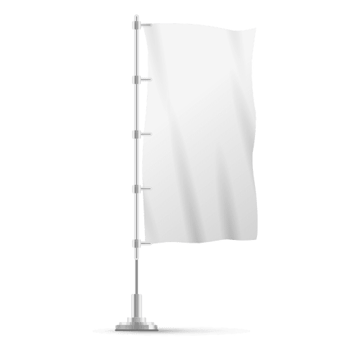 Vertical flag on pole. Vector magazines blank clip free stock