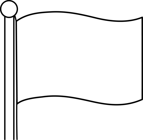 Blank drawing simple. Flag clipart
