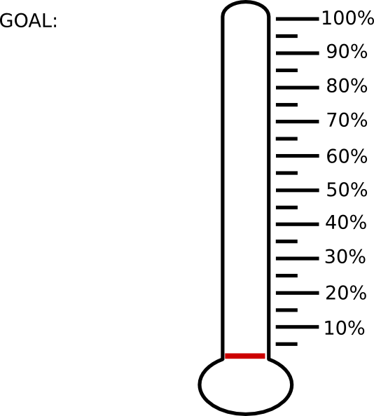 It's just an image of Printable Thermometer Goal Chart with free printable