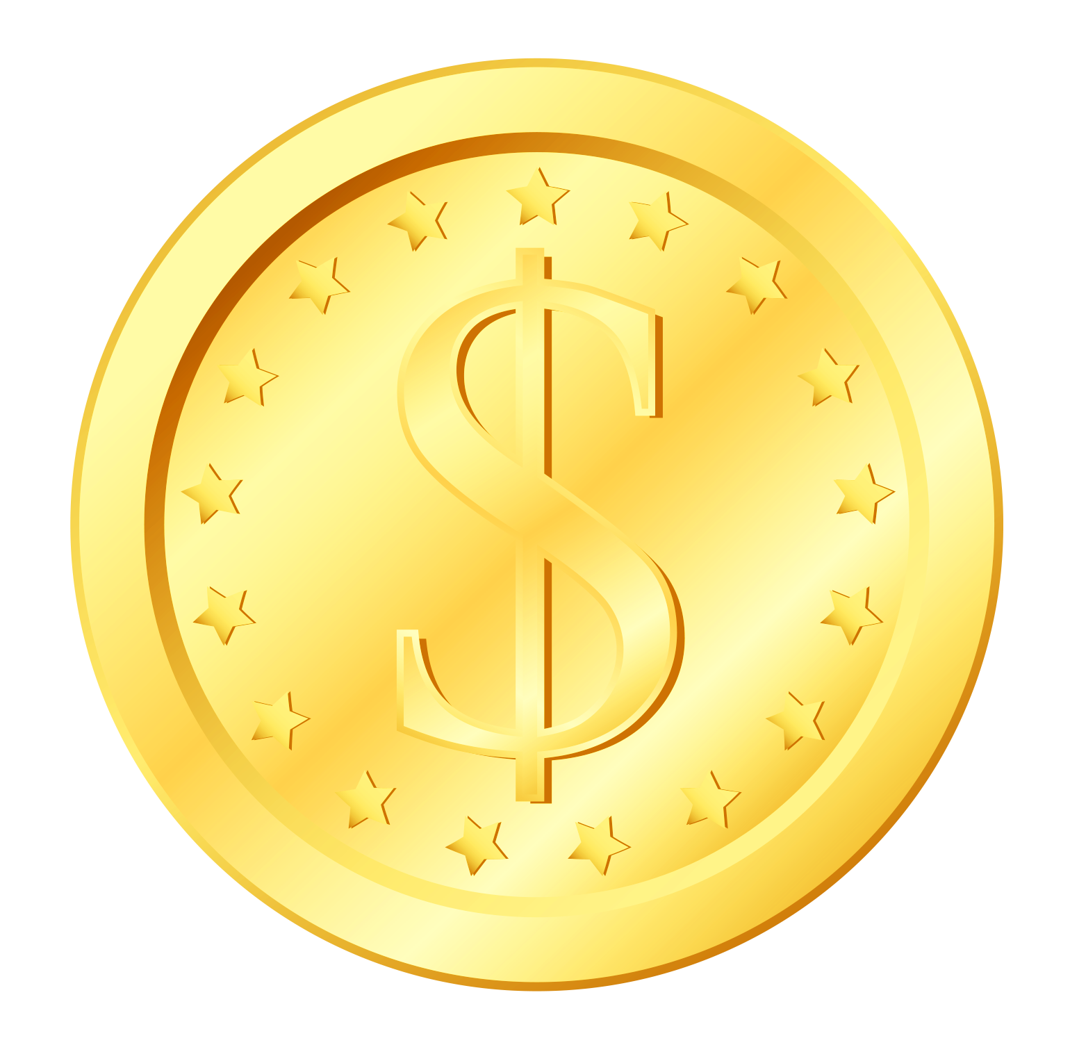 Blank gold coin png. Transparent clipart gallery yopriceville