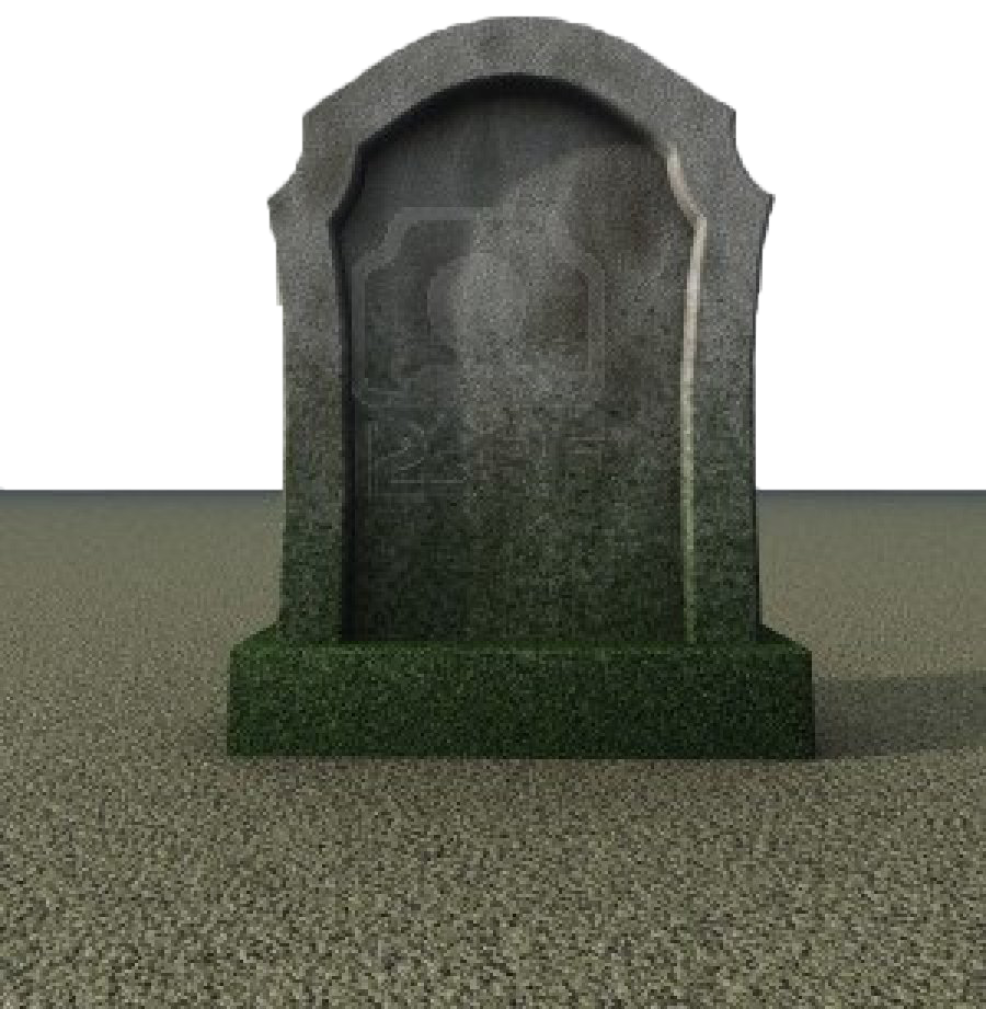 Transparent grave tombstone. Headstone cemetery transprent png