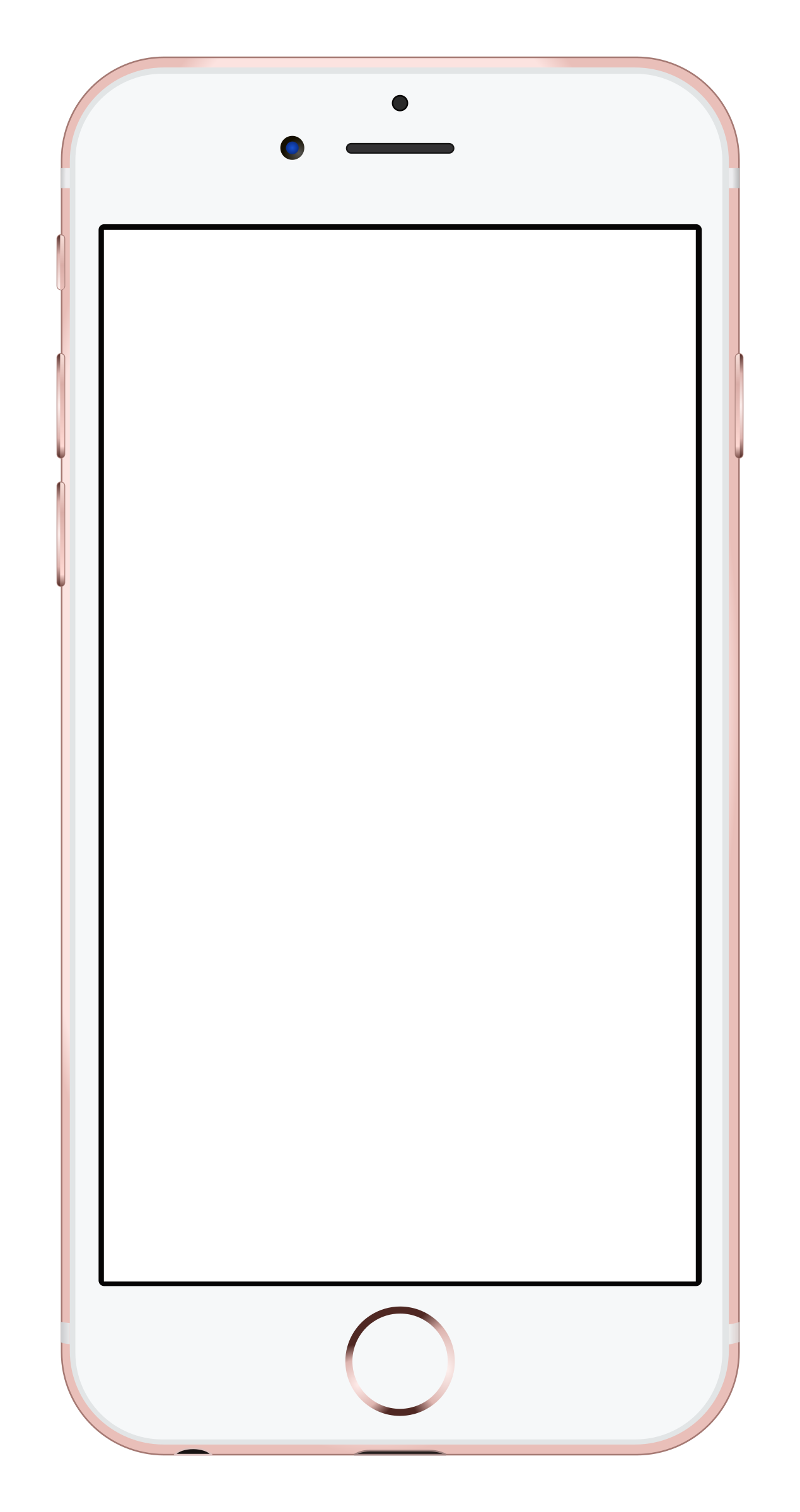 Blank iphone png. S rose gold icons