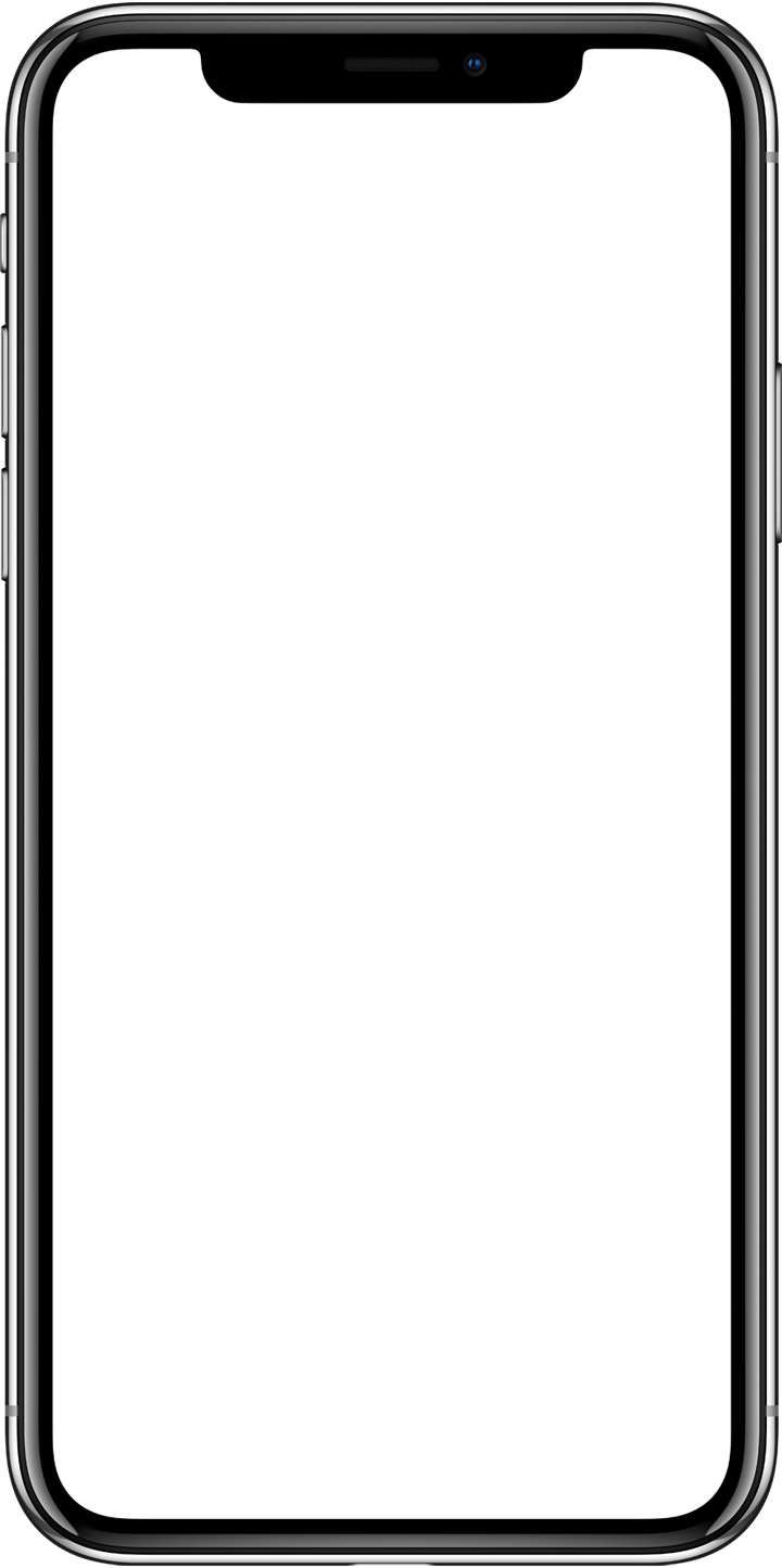 Blank iphone screen png. X without ui designapple