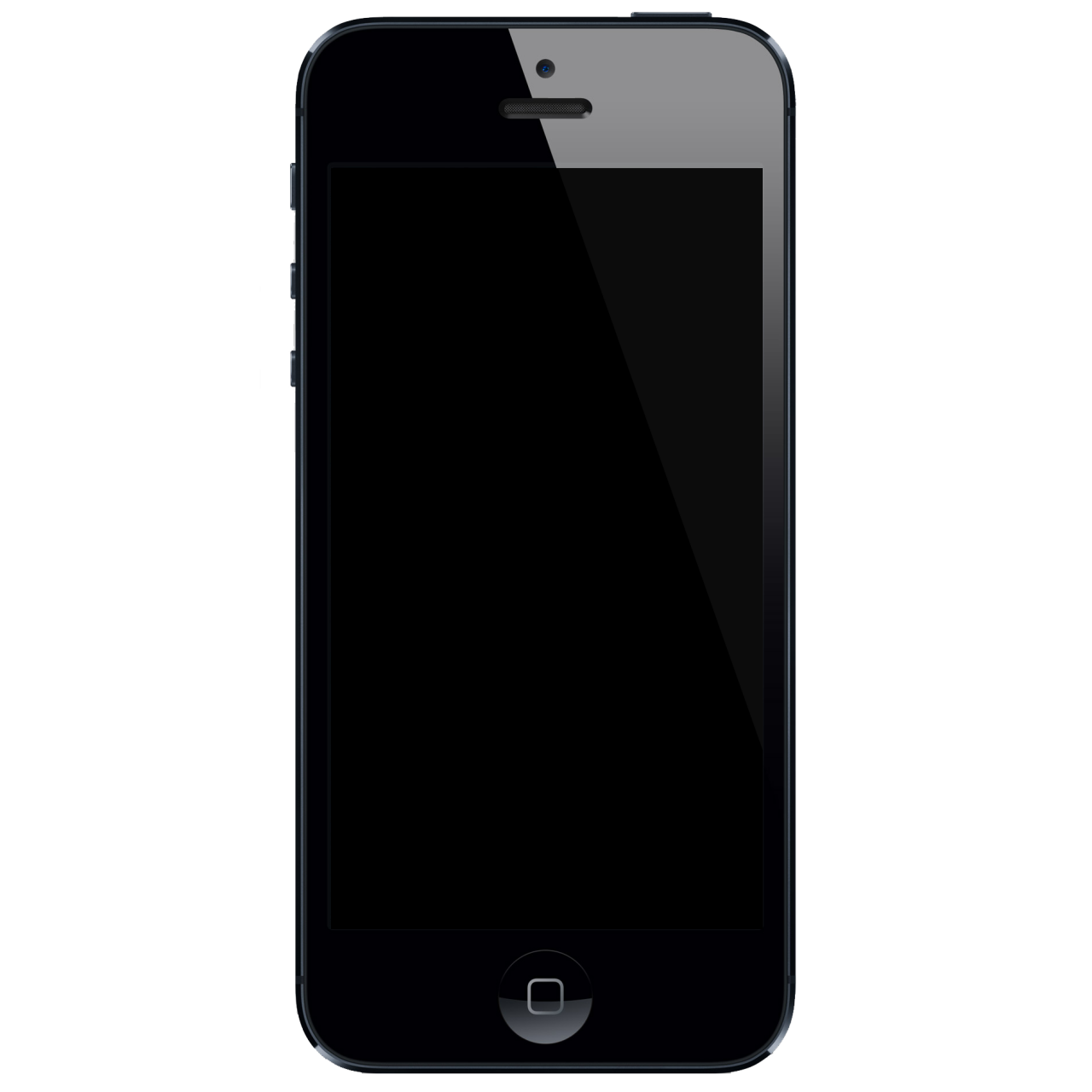 Blank iphone screen png. Black with s we