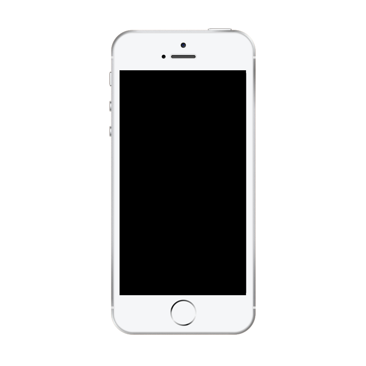 Blank iphone screen png. Se silver mock up