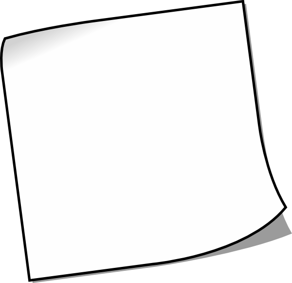 White paper png. Blank sticky note clip
