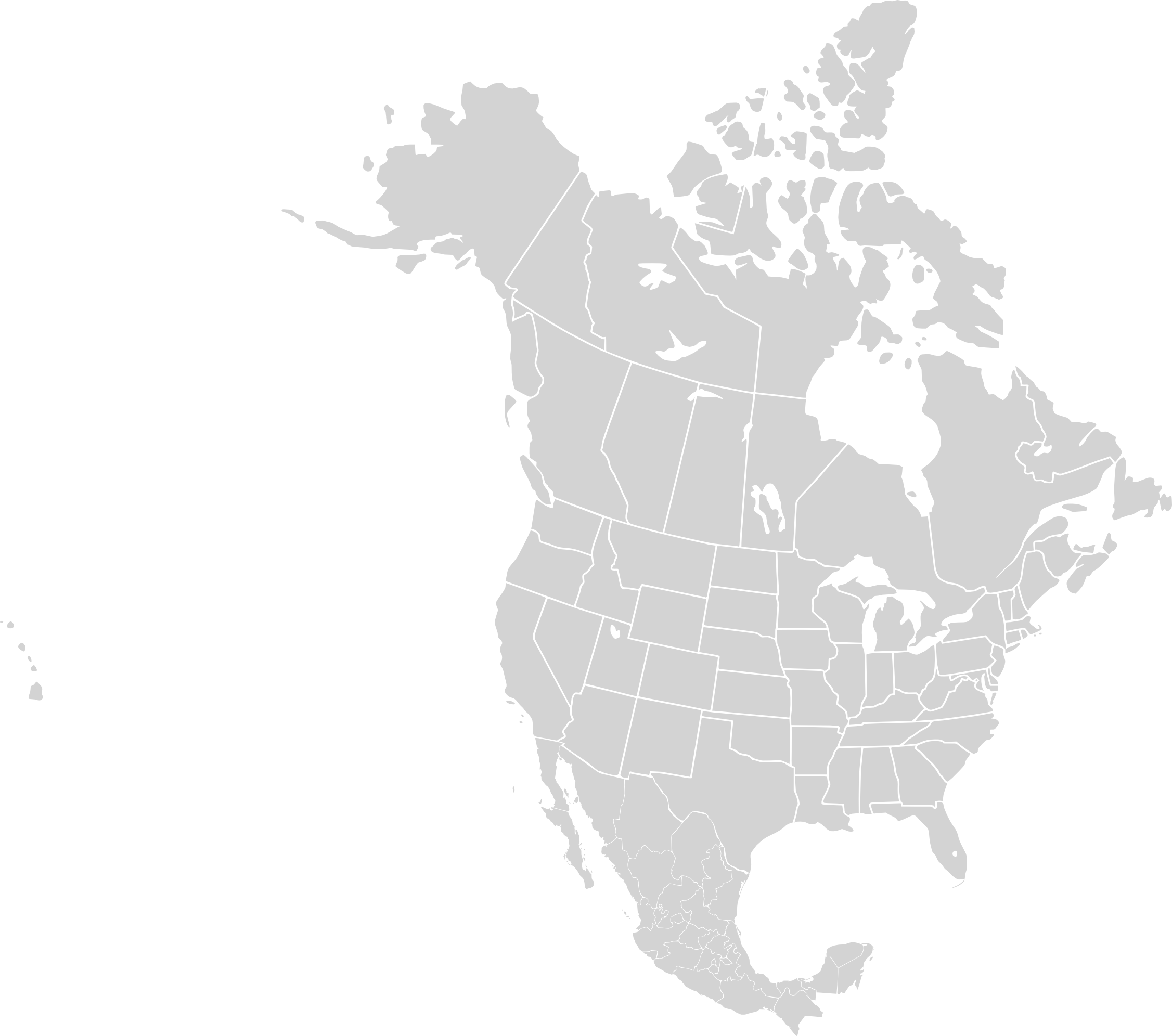 Usa Map Blank Transparent & PNG Clipart Free Download - YA-webdesign