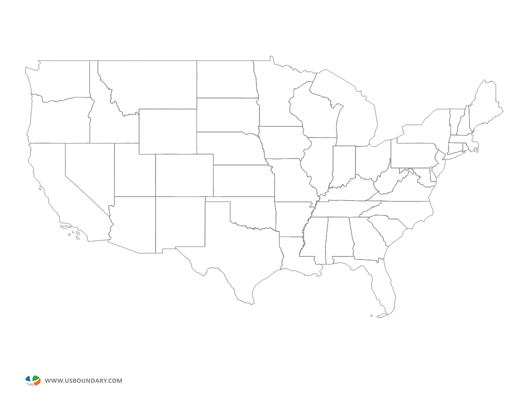 20 Blank map of the united states png for free download on YA-webdesign