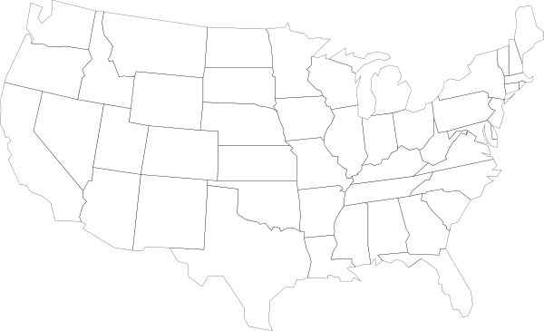 Us Outline Transparent Png Clipart Free Download Ya Webdesign - Us-outline-map-with-states