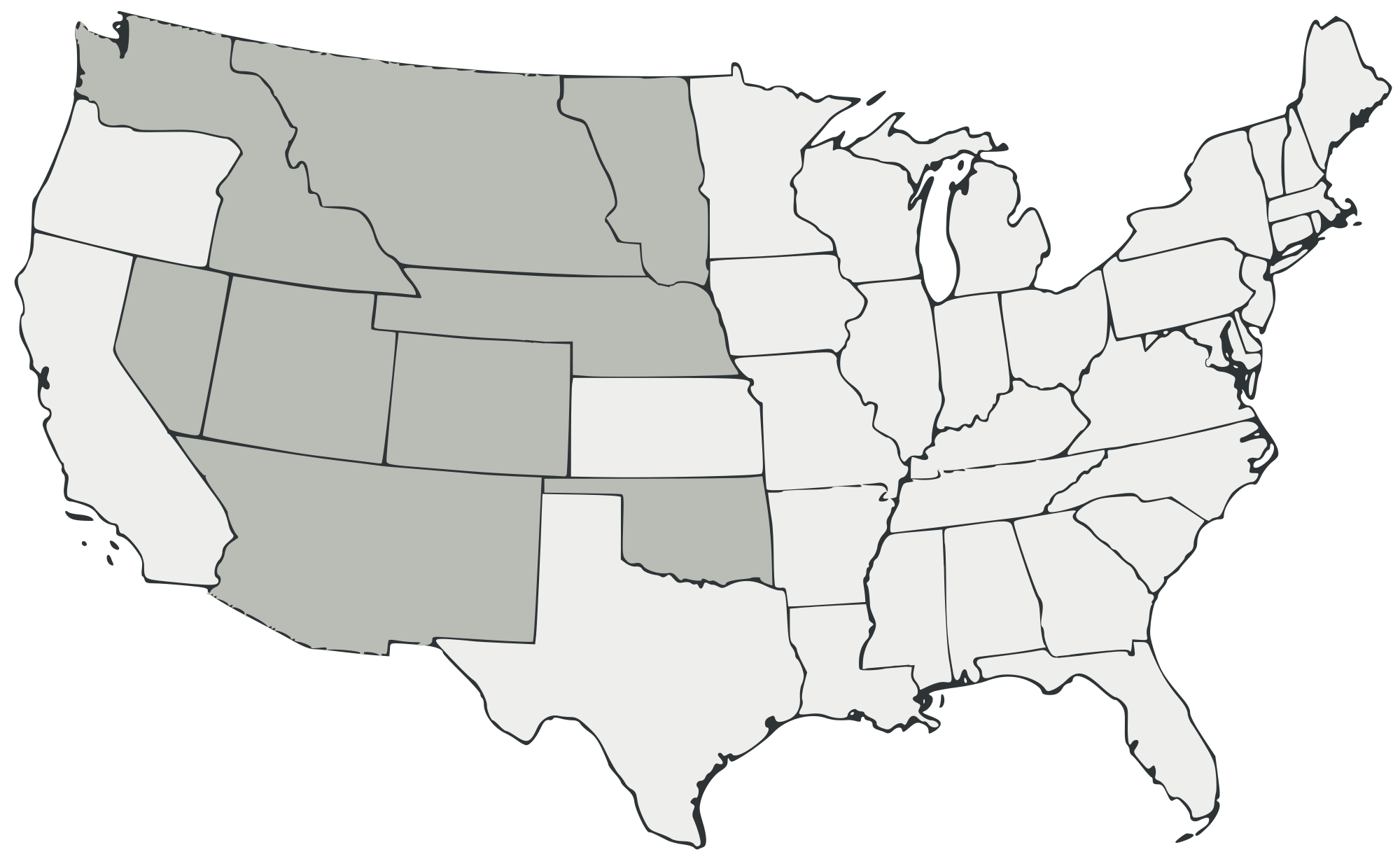 Blank Map Of The United States Transparent Png Clipart Free