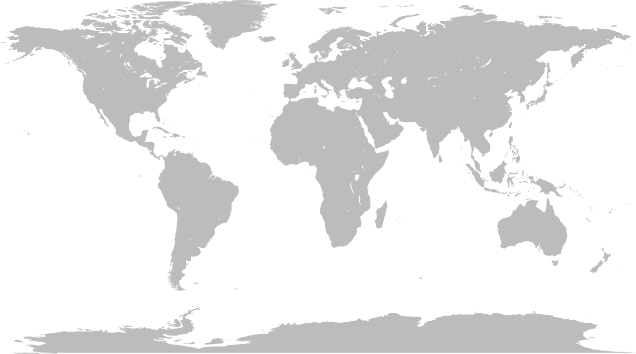 Map of the world png. File blank without borders