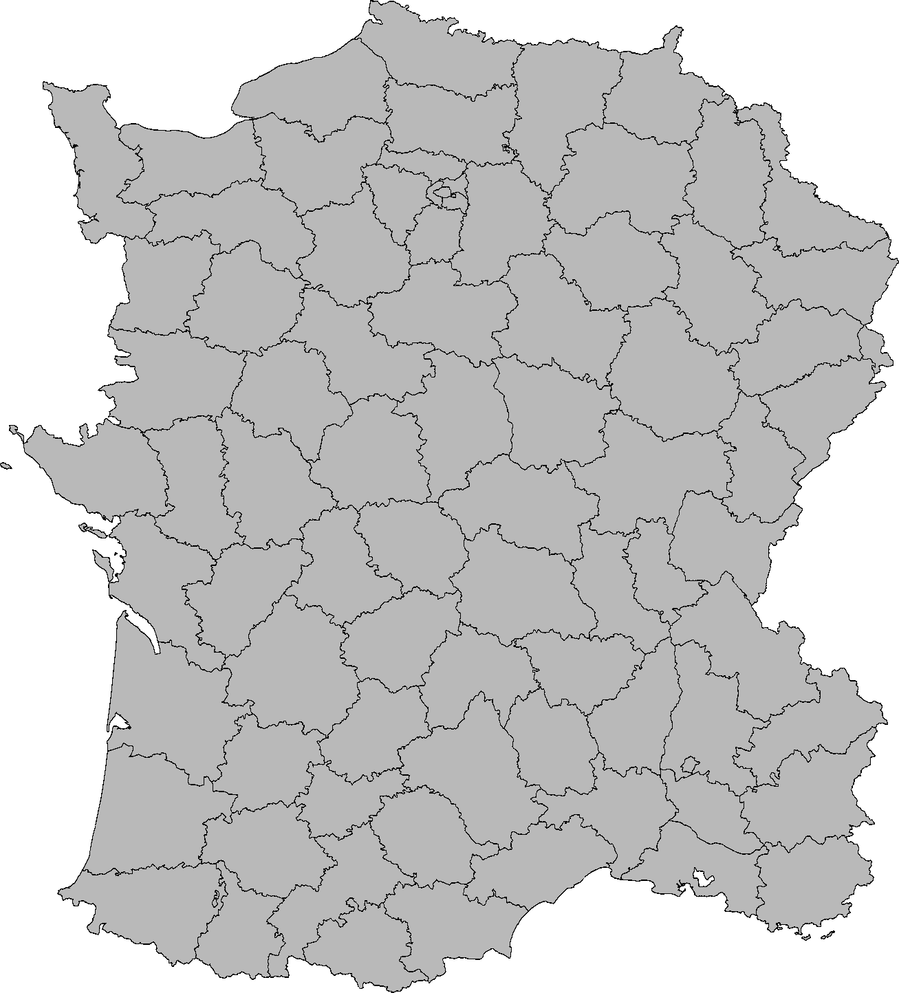 France map png. Image blank of with