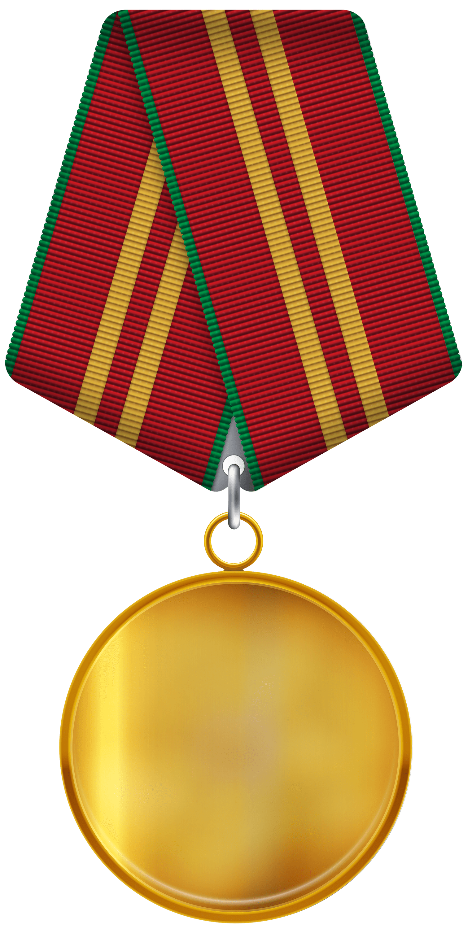 Blank medal png. Gold ribbon transparent stickpng