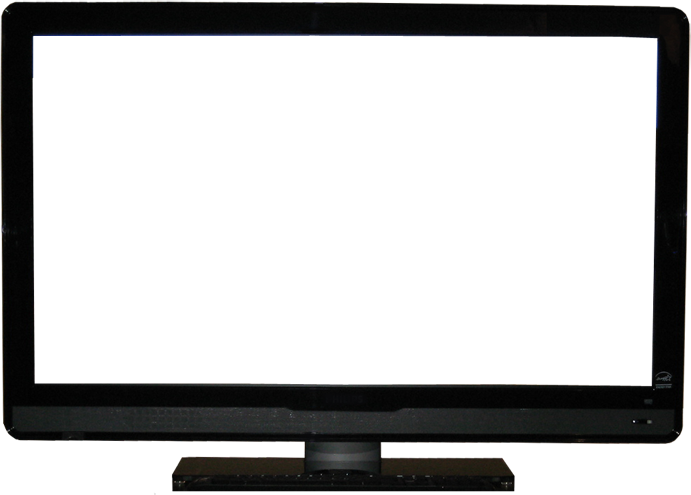 Blank monitor png. Lcd tv with screen