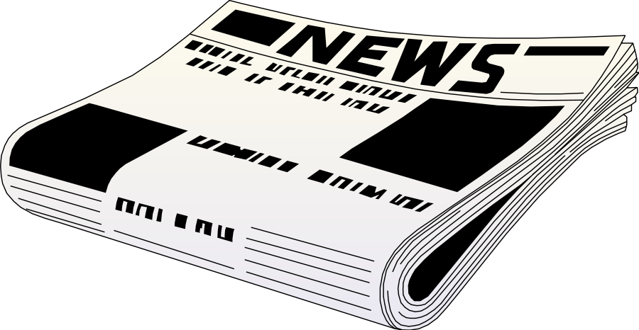 Newspaper clipart png. Collection of transparent