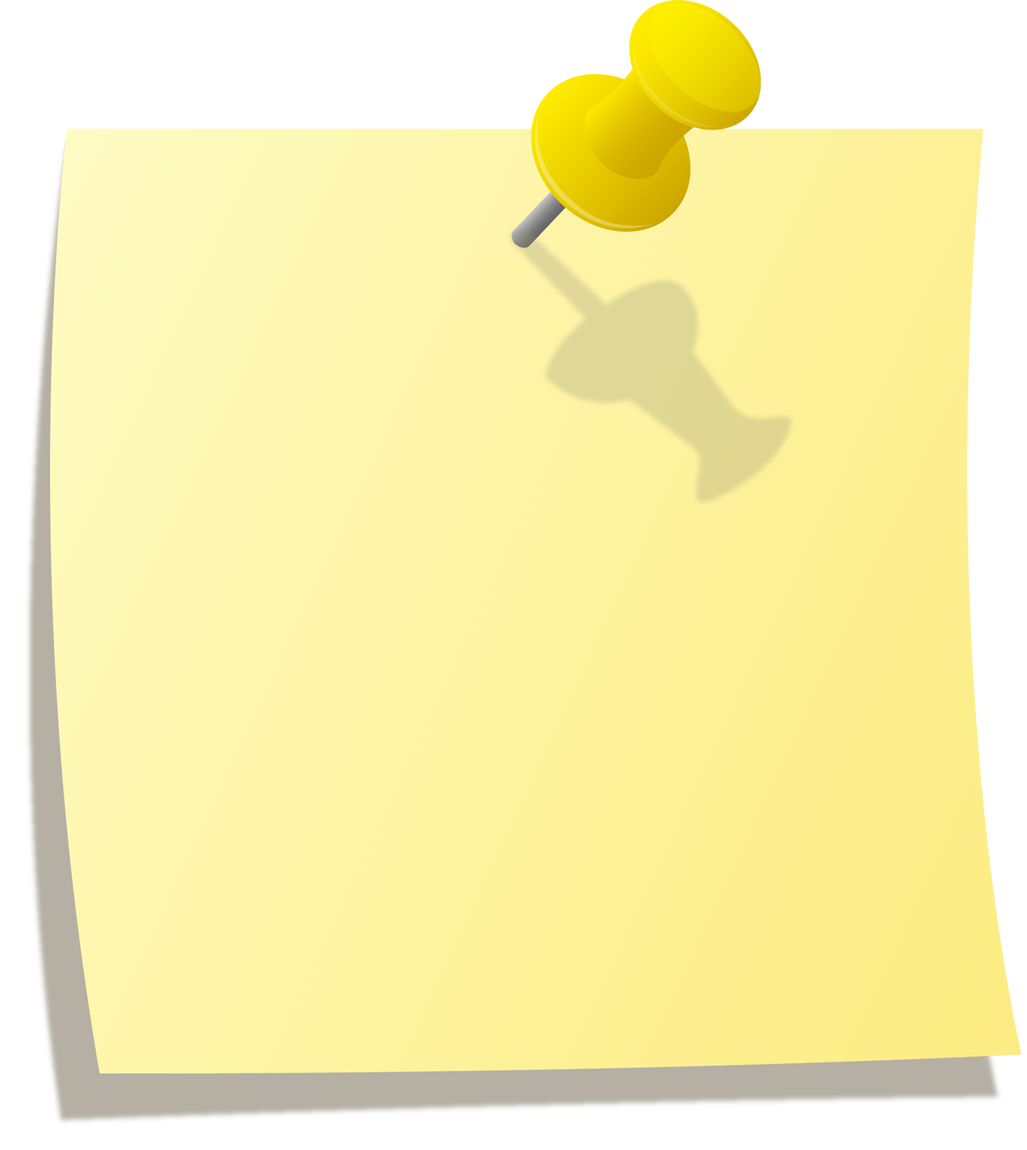Stick it note png. Paper blank clipart yellow